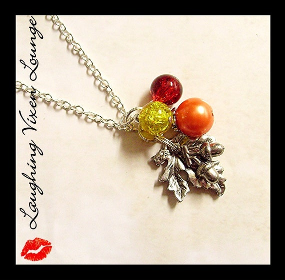 Items similar to Fall Necklace Autumn Necklace Fall ...