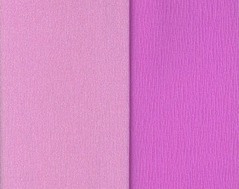 Gloria Doublette Double Sided Crepe Paper For Flower Making Made In Germany Lilac And Orchid  #3353