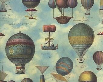 Vintage Hot Air Balloons Italian Paper ~ Kartos Italy IP K177