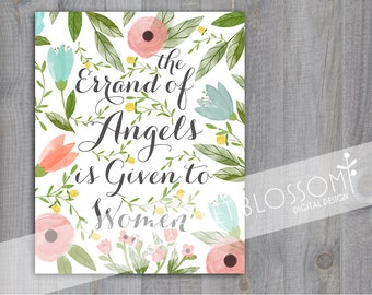 Printable Errand of Angels Wall Art Download 8x10 or 11x14