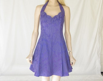 Vintage  80s Purple Crinoline Prom Dress