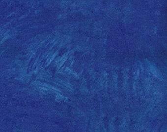 Blue Cobalt Plaster of Paris Frond Designs Fabric 1 yard