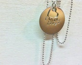 Stainless Steel Necklace - custom - Hand Stamped