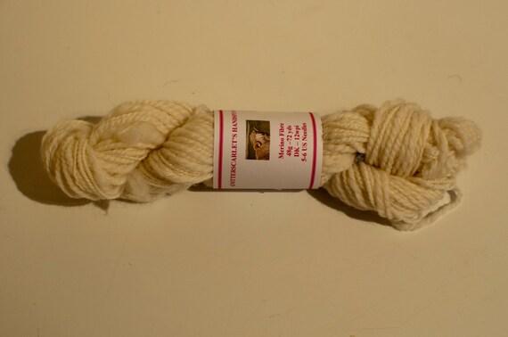 Cream Merino Handspun Yarn 48g/72yds
