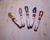 Cinnamon Stick Santa Ornaments Party Favors Handpainted