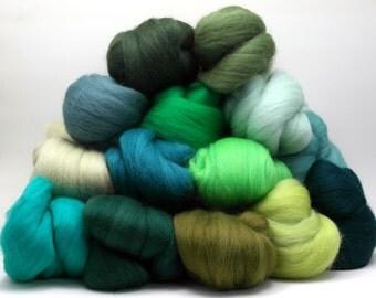 Merino Wool Color Pack - Greens