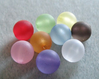 Frosted Lucite Acrylic Beads You Choose Your Colors 10mm 811