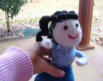 Large Felted Waldorf Doll - Curly Hair