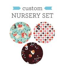 Baby Nursery Bedding Set Fitted Crib Sheet Crib Skirt