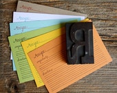 Letterpress Recipe Cards-21 Pack