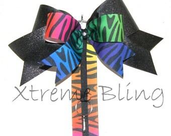 Rainbow Bow Holder/Cheer Bow Holder