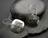 Trifecta - Mirror Finish Sterling Silver Earrings