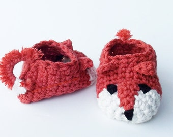 Fox Baby Booties Baby Boy Slippers Sly Fox Shoes