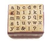 Mini Alphabet Rubber Stamp Set  (ARS-8)