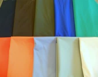Polyurethane laminate WATERPROOF soft durable fabric blues brown greens orange stretch