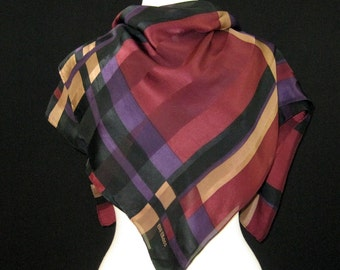 Vintage Scarf Bill Blass Large Geometric Silk Square