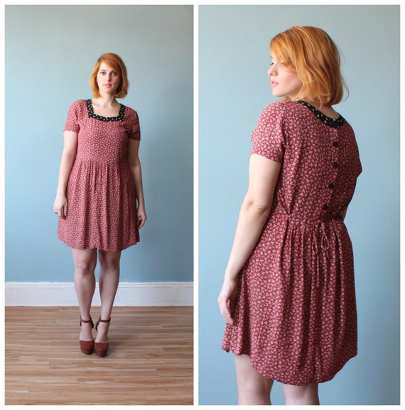 plus size babydoll style dress