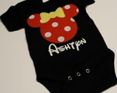 Minnie Mouse Onesie... Red Polka Dot ... Personalized with a Name