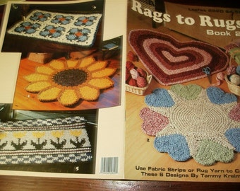 Rug Crocheting Pattern Rags to Rugs Book 2 Leisure Arts 2820 Crochet Patterns Leaflet
