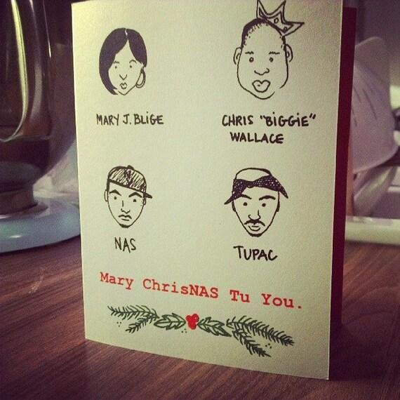 Funny Christmas Card - Hip Hop - Mary ChrisNAS Tu You.