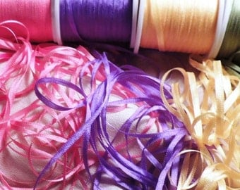 2mm silk ribbon Summer Florals Combo Pack 25 yards