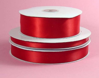 "3/8"" x 100 yards Double Face Satin - RED"