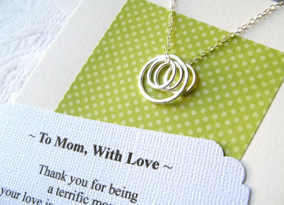 RESERVED for Elizabeth - MOM Necklace Sterling Silver Gift Wrapped Representing a Mother and Her Children  Family Classic