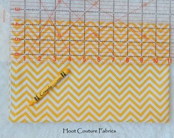 Sunshine yellow Mini Chevron from the Remix Collection by Ann Kelle for Robert Kaufman Fabrics 1 yard