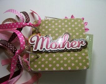 Mother Mini Scrapbook Album, Mother Mini Album, Mother Scrapbook, Mother Photo Album, Mother Brag Book, Mom Album, Mother Album, Mom