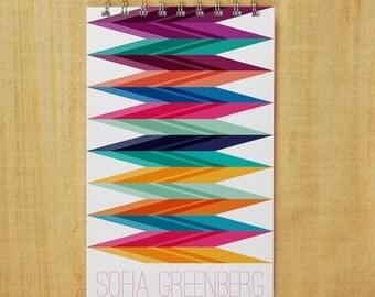 Personalized Journal Notebook - Zig Zag Pop