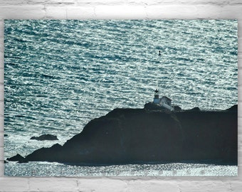 Point Bonita, Seascape, San Francisco, Black and White, Lighthouse Photography, Marin County, California Art, Ocean Art, California Coast