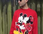 Vintage Mickey and Minnie Sweatshirt Unisex