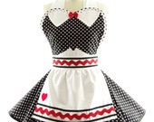 Retro Apron - I Love Lucy Sexy Womans Aprons - Vintage Apron Style - Lucille Pin up Character Rockabilly Cosplay Costume