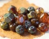 PRAIRIE MIX .. 25 Picasso Czech Glass Bead Mix (4124-st)