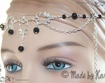 Wedding Fairy Circlet Tiara Necklace Silver HeadBand Choose your color