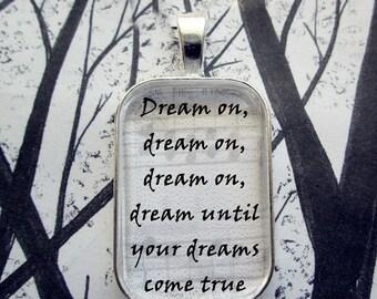 Aerosmith Dream On Song Lyric Pendant