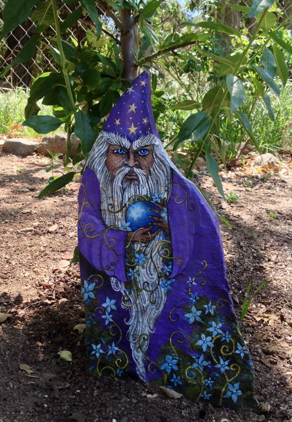 Magic in the garden one of a kind painted rock by - Painting rocks for garden what kind of paint ...