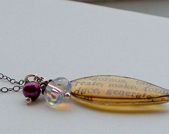 CREATE resin charm necklace on sterling silver chain