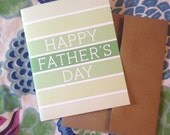 Happy Father's Day - card and envelope