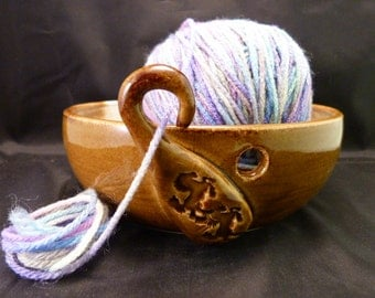 WheelWorksPottery - Yarn Bowl - Dual Function - Winter Trail Ride