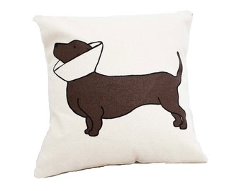 Cone Dog Pillow / Dotson Pillow / Doxie Pillow / Dachshund Pillow / Natural Cone Dog Pillow