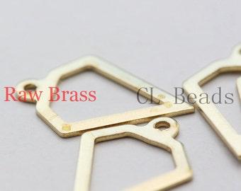 40pcs Raw Brass Diamond Shape Charm - 16x11mm (1859C-U-97)