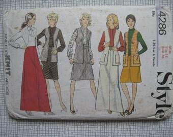 "1973 Skirt, Dress, Blouse & Cardigan - 36"" Bust - Style 4286"