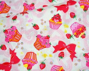 SALE Cupcake and Ribbon print 1 meter  (lb1A)