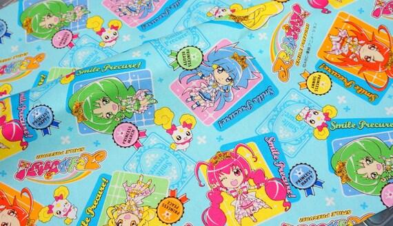 Smile Precure fabric Anime print Japanese fabric Fat Quarter
