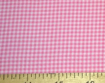 Two (2) Yards -Tiny gingham print in pink by Michael Miller Fabrics CX4834-PINK-D