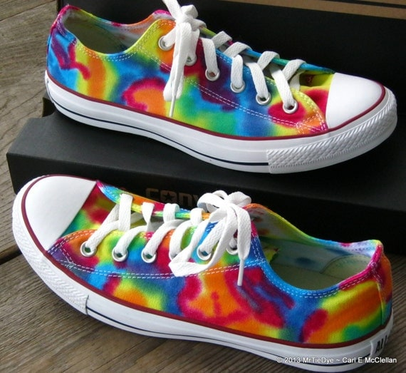 children s made to order tie dye converse low top