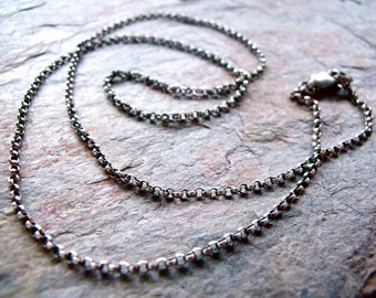 Sterling Silver Rolo Chain with Sterling Silver Lobster Claw Clasp