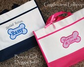 Personalized pet dog puppy animal tote bag puppy gift