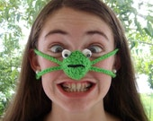 Nose Warmer, Happy Frog, Tween, Teen, Adult, Unisex, Outdoor Fun, Sports, Games, Tailgating, Work, Winter Games, Fun Gift